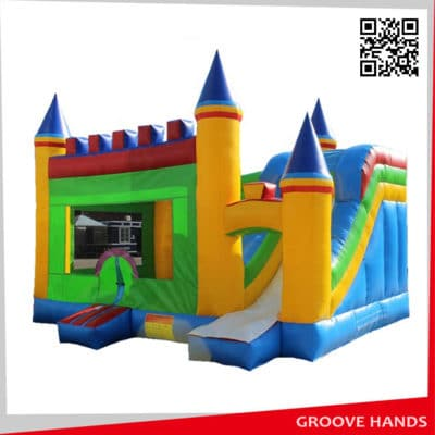 Hot Sale Inflatable Jumping Bounce Castle with Slide for Kids (B009)