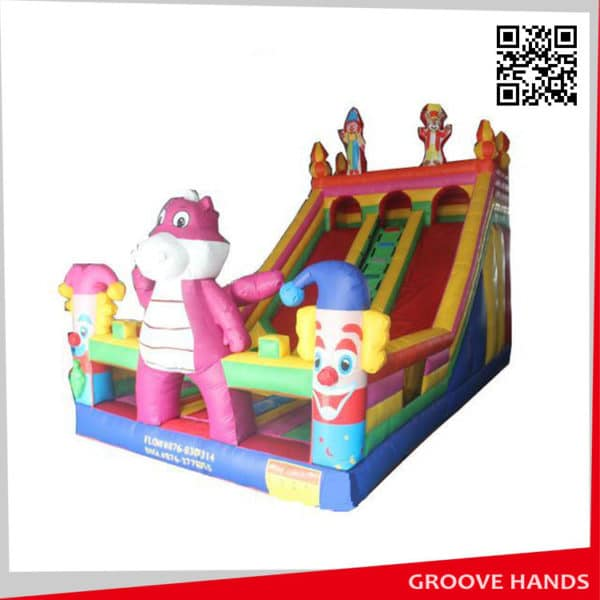 Inflatable Jumping Double Lane Slide in Stock for Kids (NL008)