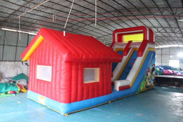 Inflatable Slide With House
